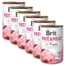 Brit Paté & Meat PUPPY konzerv 6 x 400 g