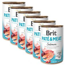 Brit Paté & Meat Salmon konzerv 6 x 400 g
