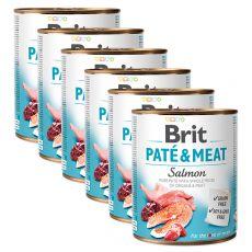 Brit Paté & Meat Salmon konzerv 6 x 800 g