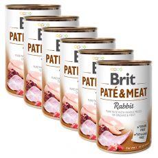 Brit Paté & Meat Rabbit konzerv 6 x 400 g