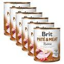 Brit Paté & Meat Rabbit konzerv 6 x 800 g