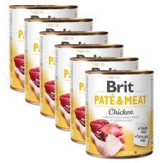 Brit Paté & Meat Chicken konzerv 6 x 800 g