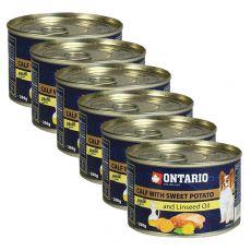ONTARIO konzerv borjúhússal, édes burgonyával és lenmagolajjal – 6 x 200g