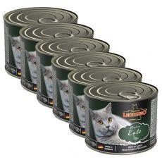 Konzerv macskáknak Leonardo, kacsahús 6 x 200 g