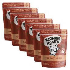MEOWING HEADS Top Cat Turkey GRAIN FREE 6 x 100 g