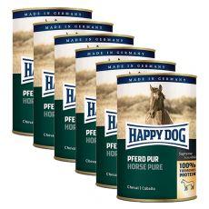 Happy Dog Pur - Pferd / horse, 6 x 400g, 5+1 GRÁTISZ