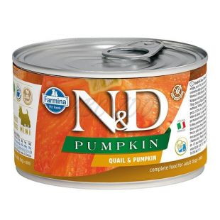 Farmina N&D dog Quail & Pumpkin konzerv 140 g