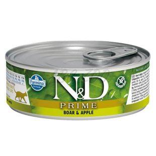 Farmina N&D cat Prime Boar & Apple cat konzerv 80 g