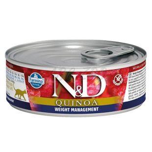 Farmina N&D cat Quinoa Weight Management konzerv 80 g