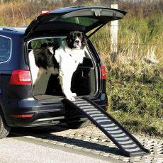 Műanyag, összehajtható feljáró rámpa kutyáknak, 39 x 160 cm