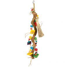 Madárjáték - faág játékokkal, 49 cm