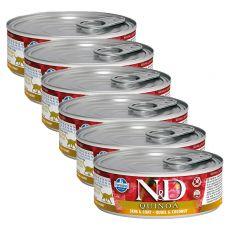 Farmina N&D cat Quinoa Quail & Coconut konzerv 6 x 80 g, 5+1 GRÁTISZ