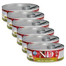 Farmina N&D cat Quinoa Duck & Coconut konzerv 6 x 80 g