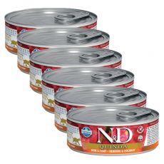 Farmina N&D cat Quinoa Herring & Coconut konzerv 6 x 80 g