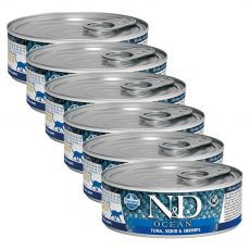 Farmina N&D cat tuna, squid & shrimp konzerv 6 x 80 g
