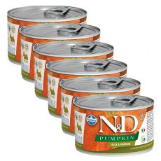 Farmina N&D dog Duck & Pumpkin konzerv 6 x 140 g