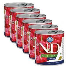Farmina N&D dog Quinoa Digestion konzerv 6 x 285 g