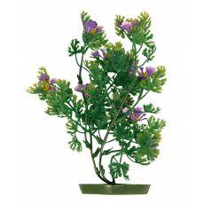 Akváriumi műnövény, 25 cm lila virágok