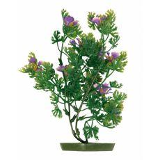 Növény akváriumba - műanyag, lila virágok 28 cm