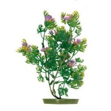 Akváriumi műnövény - lila virágok, 17 cm