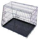 Fém autós szállítódoboz kutyák számára 62 x 48 cm, fekete