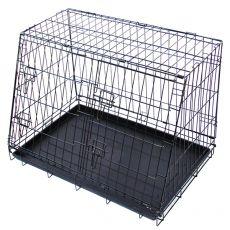 Fém autós szállítódoboz kutyák számára 91,5 x 62,5 cm, fekete