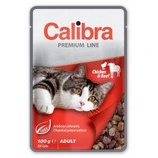 CALIBRA Cat Adult csirke és marha darabok szószban 100 g