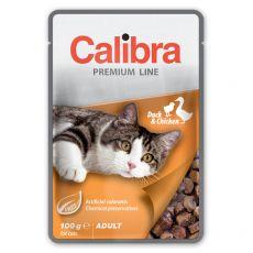 CALIBRA Cat Adult kacsa és csirke darabok szószban 100 g