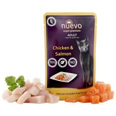 NUEVO CAT Adult Chicken & Salmon alutasakos macskaeledel 85 g