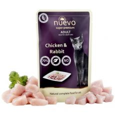 NUEVO CAT Adult Chicken & Rabbit alutasakos macskaeledel 85 g