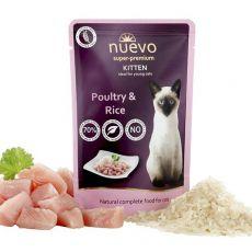 NUEVO CAT Kitten Poultry & Rice alutasakos macskaeledel 85 g