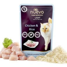 NUEVO CAT Light Chicken & Rice alutasakos macskaeledel 85 g