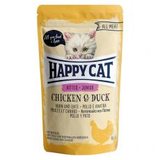 Happy Cat ALL MEAT Kitten Junior alutasakos eledel Chicken & Duck 85 g