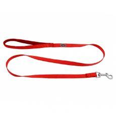 Piros színű póráz neoprén fogantyúval 1,2 m/15 mm