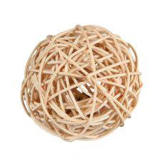 Rattanból fonott labda csengővel rágcsálók számára 4 cm