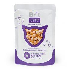 Brit Care Kitten Chicken & Cheese alutasakos eledel 80 g