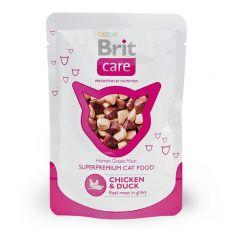 Brit Care Cat Chicken & Duck alutasakos eledel 80 g