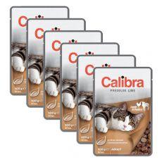 CALIBRA Cat Adult bárány és baromfi falatok szószban 6 x 100 g