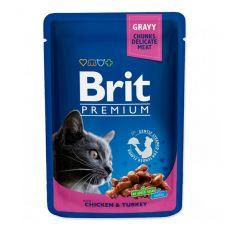 BRIT Premium Cat Chicken & Turkey alutasakos eledel 100 g
