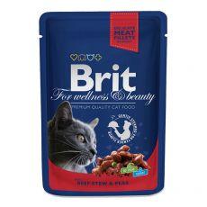 BRIT Premium Cat Beef Stew & Peas alutasakos eledel 100 g