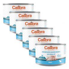 Calibra Cat Adult GF – Csirke és csirkeszív konzerv lazacolajjal 6 x 200g