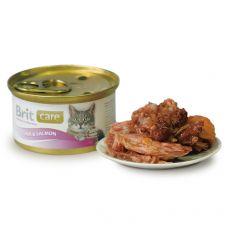 Brit Care Cat Tuna & Salmon konzerv  80 g