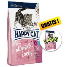 Happy Cat Junior Sterilised Atlantik-Lachs 1,4 kg + 1,4 kg GRATIS