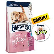 Happy Cat Supreme Junior Geflügel 1,4 kg + 1,4 kg GRATIS