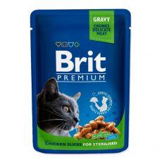 BRIT Premium Cat Chicken Slices for Sterilised alutasakos eledel 100 g