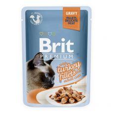 BRIT Premium Cat Delicate Fillets in Gravy with Turkey alutasakos eledel 85 g