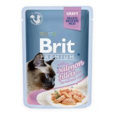 BRIT Premium Cat Delicate Fillets in Gravy with Salmon for Sterilised alutasakos eledel 85 g