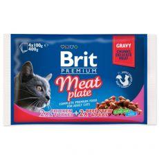 BRIT Premium Cat Meat Plate alutasak 4 x 100 g