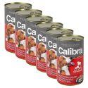 Konzerv Calibra Dog Adult marha, máj és zöldség aszpikban, 6 x 1240g