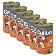 Konzerv Calibra Dog Adult pulyka, csirke és tészta aszpikban , 6 x 1240g